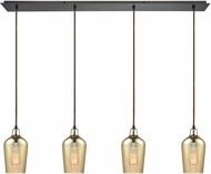 ELK 10840-4LP Hammered Glass Contemporary Oil Rubbed Bronze Multi Drop Lighting