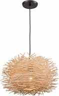 ELK 10950-1 Bamboo Nest Modern Oil Rubbed Bronze 16  Pendant Lighting