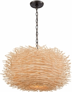 ELK 10951-3 Bamboo Nest Contemporary Oil Rubbed Bronze 23  Pendant Light
