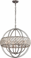ELK 11094-6 Bradington  Weathered Zinc 23  Hanging Lamp
