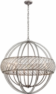 ELK 11095-8 Bradington  Weathered Zinc 32  Hanging Light