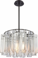 ELK 11162-3 Cubic Glass Modern Oil Rubbed Bronze 20  Pendant Light Fixture