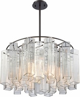 ELK 11164-6 Cubic Glass Modern Oil Rubbed Bronze 28  Pendant Lighting Fixture