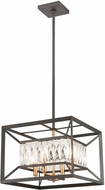 ELK 11184-4 Starlight Charcoal / Satin Brass Pendant Hanging Light