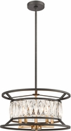 ELK 11185-5 Starlight Charcoal / Satin Brass Hanging Light Fixture