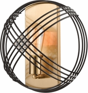 ELK 11190-1 Concentric Oil Rubbed Bronze / Satin Brass Lamp Sconce