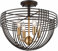 ELK 11191-4 Concentric Oil Rubbed Bronze / Satin Brass Ceiling Light Fixture