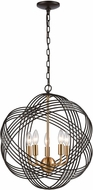 ELK 11193-5 Concentric Oil Rubbed Bronze / Satin Brass 19  Drop Ceiling Lighting