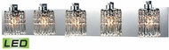 ELK 11239-5-LED Optix Polished Chrome LED 5-Light Vanity Light