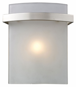 ELK 11280/1 Briston Contemporary 8 Inch Tall Satin Nickel Halogen Lighting Sconce