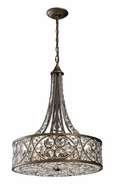 ELK 112886 Amherst Tall Wrought Iron Crystal Pendant Light
