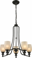ELK 11656-5 Park Ridge Oil Rubbed Bronze Chandelier Light