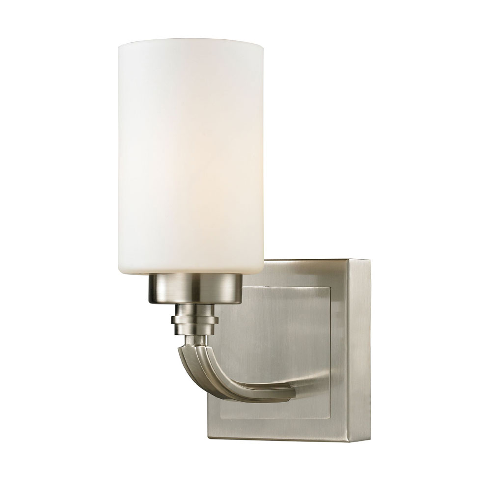 Elk 11660 1 Dawson Brushed Nickel Wall Light Sconce