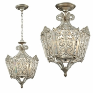 ELK 11710-6 Villegosa Aged Silver Flush Mount Light Fixture / Lighting Pendant