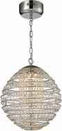 ELK 11731-LED Crystal Sphere Polished Chrome LED Drop Lighting