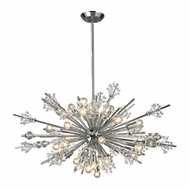 ELK 11752-24 Starburst Polished Chrome 36  Wide Chandelier Lighting