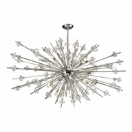ELK 11754-31 Starburst Polished Chrome 72  Wide Chandelier Lamp