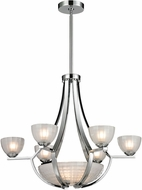 ELK 11764-6-3 Sculptive Modern Polished Chrome Halogen Hanging Chandelier