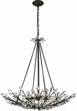 ELK 11773-8 Crystal Branches Burnt Bronze Ceiling Pendant Light