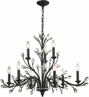 ELK 11776-6-3 Crystal Branches Burnt Bronze Lighting Chandelier