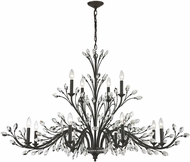ELK 11777-8-4 Crystal Branches Burnt Bronze Chandelier Lamp