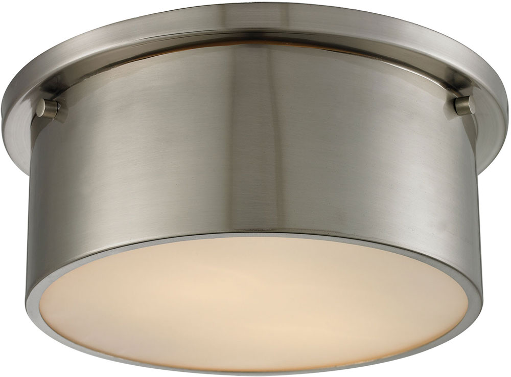Brushed Nickel Flush Mount