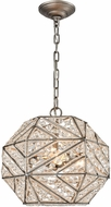 ELK 11836-3 Constructs Weathered Zinc Ceiling Light Pendant