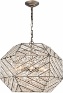 ELK 11837-8 Constructs Weathered Zinc Drop Ceiling Light Fixture
