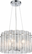 ELK 11912-4 Glass Symphony Contemporary Polished Chrome 17  Pendant Hanging Light