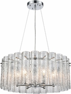 ELK 11913-6 Glass Symphony Modern Polished Chrome 23  Hanging Light Fixture