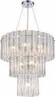 ELK 11914-6-4-1 Glass Symphony Contemporary Polished Chrome Foyer Light Fixture