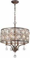 ELK 11934-4 Evolve Weathered Zinc Drum Hanging Pendant Light