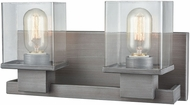 ELK 11941-2 Hotelier Contemporary Weathered Zinc 2-Light Bath Sconce