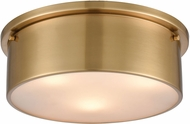 ELK 12121-3 Flushes Contemporary Satin Brass 14  Flush Mount Lighting