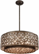 ELK 12154-6 Rosslyn Mocha / Deep Bronze 22  Drum Pendant Light