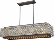 ELK 12165-8 Rosslyn Weathered Zinc / Matte Silver Island Lighting