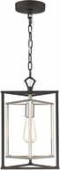 ELK 12234-1 Salinger Modern Charcoal / Satin Nickel Mini Pendant Light