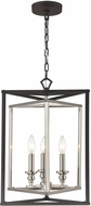 ELK 12235-3 Salinger Contemporary Charcoal / Satin Nickel 16  Foyer Lighting