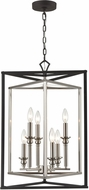 ELK 12236-6 Salinger Modern Charcoal / Satin Nickel 19  Foyer Light Fixture