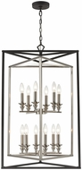 ELK 12237-6-6 Salinger Contemporary Charcoal / Satin Nickel 24  Foyer Lighting Fixture