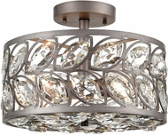ELK 12244-4 Crisanta Weathered Zinc Flush Mount Light Fixture