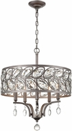 ELK 12246-5 Crisanta Weathered Zinc 19  Drum Pendant Lamp