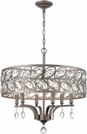 ELK 12247-6 Crisanta Weathered Zinc 22  Drum Hanging Lamp