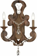 ELK 12254-2 San Sebastian Traditional Spanish Antiquewood / Dark Bronze Wall Sconce