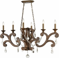 ELK 12257-6 San Sebastian Traditional Spanish Antiquewood / Dark Bronze Island Lighting