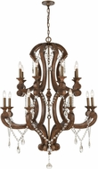 ELK 12258-16 San Sebastian Traditional Spanish Antiquewood / Dark Bronze Lighting Chandelier