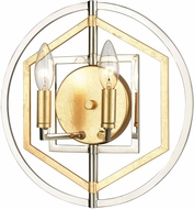 ELK 12260-2 Geosphere Modern Polished Nickel / Parisian Gold Leaf Wall Lamp