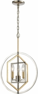 ELK 12262-3 Geosphere Contemporary Polished Nickel / Parisian Gold Leaf 15  Pendant Lighting