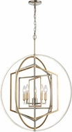 ELK 12263-5 Geosphere Contemporary Polished Nickel / Parisian Gold Leaf 27  Pendant Light