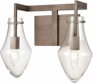 ELK 12292-2 Culmination Contemporary Weathered Zinc 2-Light Bathroom Lighting